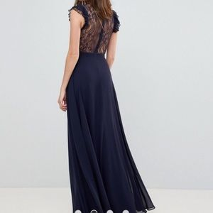 e4dc3c5be8b ASOS Dresses - ASOS lace maxi dress with lace frill sleeve